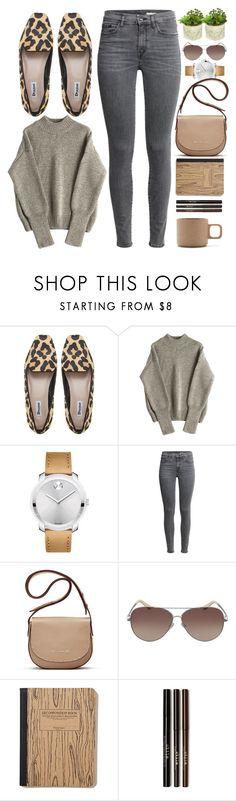 """""""Amsterdam"""" by monmondefou ❤ liked on Polyvore featuring Movado, Elizabeth and James, Valentino, Hasami, brown and gray"""