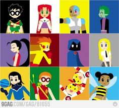 Teen titans I don't remember the girl under Robin o.O and i re-watched all this over the summer Beast Boy, Original Teen Titans, Comic Art, Comic Books, Robin, Kid Flash, Old Shows, Teen Titans Go, Young Justice