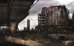 An art exhibition offering a nightmarish post-apocalypse vision of Manchester and Salford is to open at the University of Salford on Saturday 14 July. The dramatic images of ruined landmarks including Urbis, the Palace Theatre, and – exhibited publicly fo Apocalypse Now, Apocalypse Aesthetic, Zombies, Arte Zombie, Post Apocalyptic City, Cyberpunk, Science Fiction Art, Shelter, End Of The World