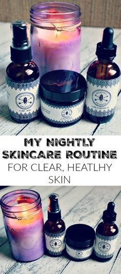 Try this nightly skincare routine to clear acne and get glowing, vibrant, healthy skin! Organic and non-toxic!
