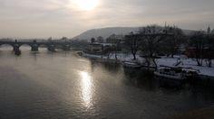 View of Charles Bridge and Vltava River, Prague