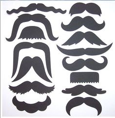 Special Sale 15 Mustaches Moustaches diecuts by itrhymeswithorange, $2.20