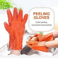 VEGETABLE CLEANER GLOVES – Priceless Prestige Cleaning Gloves, Peeling Potatoes, Pvc Material, Yams, Cooking Tools, The Prestige, Food Grade, Easy Peasy, Food Preparation