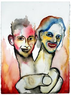 'Crop Failure' - Marilyn Manson's painting of Eric Harris and Dylan Klebold #columbine
