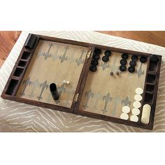 Wood & Bone Backgammon Set