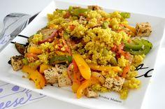 Elämää liikunnalla: Kasvisruokakokeilun 1. päivä ja kvinoa-tofu-wokin resepti
