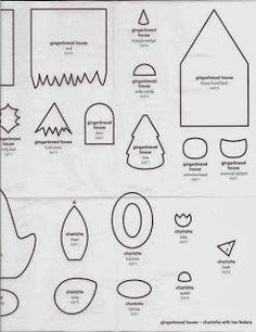 Moldes Para Artesanato em Tecido: Casinha de Feltro com molde