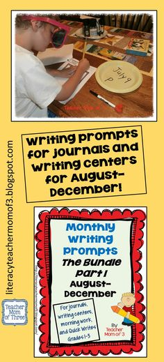 200 pages of motivating, varied, and thoughtful writing prompts for journals, writing centers, and Quick Writes!