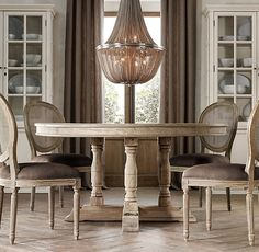 RH's Round & Oval Table Collections:At Restoration Hardware, you'll explore an exceptional world of high quality unique dining room furniture. Browse our selection of dining room furniture sets & more at Restoration Hardware. Cane Back Chairs, Round Back Dining Chairs, Round Chair, Dining Table Chairs, Side Chairs, Room Chairs, Round Tables, Dining Room Furniture Sets, Dining Room Inspiration