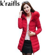6bfffc7d7e8 k raifls Womens Winter Jackets New Long Down Cotton Parka Female Jacket  Coat Plus Size