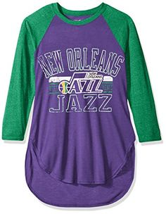 Amazon.com   NBA Women s Hang Time 3 4 Sleeve Tee   Sports   Outdoors. Utah  JazzNba ff283c45d