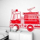 Firetruck // Kids Wall Sticker I Kids Wall Decal from e-glue  Made By ...