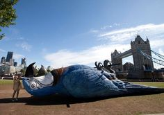 3 | London Celebrates The Monty Python Reunion By Putting A 50-Foot Dead Parrot In Potters Field Park | Co.Create | creativity + culture + commerce