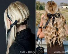 Dicas de como usar laços para compor seu look. http://www.feminices.blog.br/lacos-nos-cabelos/