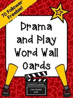 Are you studying dramas or plays in your classroom? Use these FREE word wall cards to help them remember important play and drama vocabulary. Words included are: -drama-playwright-actors-script-acts-scenes-dialogue-monologue-theater-propsThis is a 70 Follower Freebie Thank you! :) I appreciate your feedback!