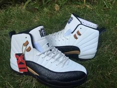 a1a6f2d48009 Air Jordan 12 Chinese New Year Mens Basketball Shoes White Black