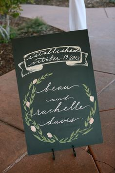 """""""Established"""" Wedding Sign 