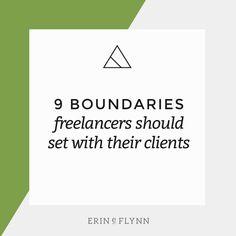 Boundaries freelancers should set with their clients // erineflynn.com