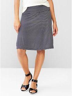 Stripe foldover skirt | Gap