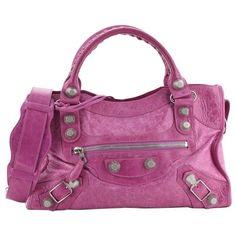 Studded Handbags, Studded Purse, Pink Handbags, Studded Leather, Pink Leather, Fashion Handbags, Leather Satchel, Leather Purses, Leather Handbags