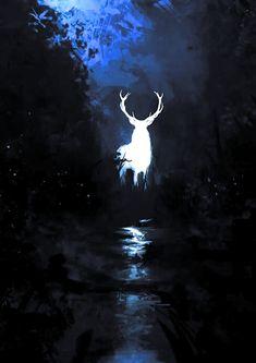 Harry Potter Pictures, Harry Potter Art, Harry Potter Fandom, Fantasy Creatures, Mythical Creatures, Harry Potter Background, Deer Illustration, Deer Art, Harry Potter Wallpaper