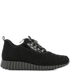 SALVATORE FERRAGAMO | Salvatore Ferragamo Women's  Black Fabric Sneakers #Shoes #Sneakers #SALVATORE FERRAGAMO