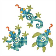 Looking for your next project? You're going to love Applique Add On's -Lizard, Frog & Turtle by designer urbanelementz.