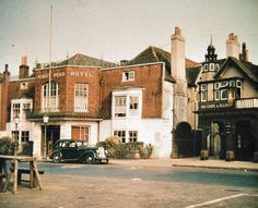 The Kings Head, High Street, Epsom, pulled down for shopping in Old Street, South London, Local History, English Countryside, England Uk, Surrey, Kingston, Childhood Memories, Past