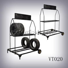 Rolling Tire Storage Rack Glamorous Two Layers Tire Rack Display Goodyear   Buy Tire Rackmetal Tyre
