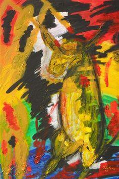 'El Toro' di gianni sutera, cartoncino telato