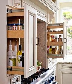 Great for spices, bottles, and tiny things that are hard to reach!