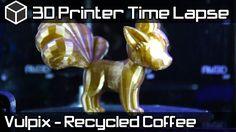 3D Printer Time Lapse - Vulpix Pokemon 3D Fuel Coffee 3D Printing Filame...