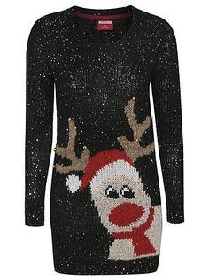 Cute Christmas Jumpers - Embellished Reindeer Sequin Christmas Jumper | Women | George at ASDA