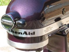My bf painted my kitchenaid mixer metallic purple. I love it! We somewhat followed this tutorial.
