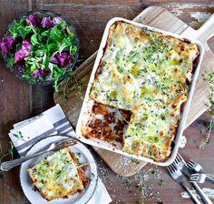 Vegetarisk lasagne med quornfärs