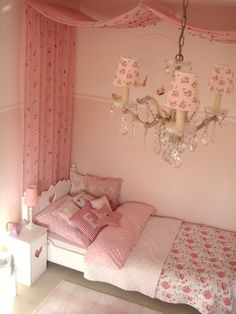 Pink room - because she's browsing Pinterest with me...