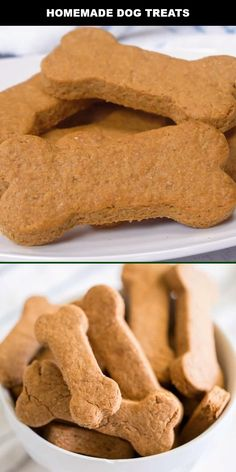 These easy, healthy Homemade Dog Treats are a special recipe to serve your favorite pet! Homemade dog treats are a simple way to let your little puppy know they're loved. This easy, healthy homemade dog treats recipe is the best. They are so simple to Dog Cookie Recipes, Homemade Dog Cookies, Dog Biscuit Recipes, Homemade Dog Food, Dog Food Recipes, Doggie Cookies Recipe, Recipes For Dog Treats, Cookies For Dogs, Homemade Dog Biscuits