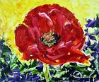 ♧ø Poppy Amongst Lavender. Floral Oil #Painting on Board #Contemporary Artist France http://ebay.to/2bvH3Sc