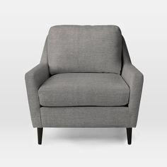 Everett Chair, Yarn Dyed Linen Weave, Shelter Blue