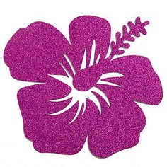 Our Glittered Hibiscus Cutouts will add shine and sparkle with the purplish glitter.