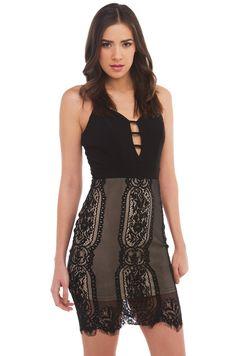 Mini Dress | Black Lace Dress | Going Out Dresses -AKIRA