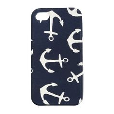 J Crew iPhone case.wish i had an iphone Iphone 4s Covers, Iphone Cases, 4s Cases, Iphone Skins, Anchor Phone Cases, I Need Vitamin Sea, Anchor Print, Navy Anchor, Navy Wife