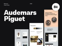 Audemars Piguet - Behance Case Study designed by Filip Justić for Balkan Brothers. Connect with them on Dribbble; Web Design Quotes, Web Design Tips, App Design, Case Study Design, Cool Technology, Audemars Piguet, Texture Design, Show And Tell, Behance