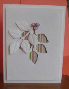 Leaves die cut & negative. | Cards