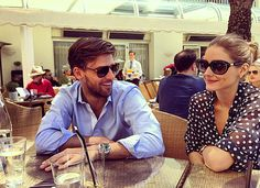 Olivia Palermo and Johannes Huebl having lunch at Hôtel Martinez in Cannes