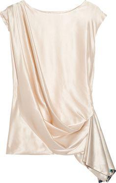 Draped Silk-satin Top