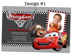 Disney Pixar Cars Printable Invitations