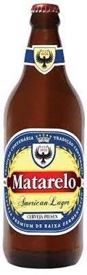 Cerveja Matarelo American Lager, estilo Premium American Lager, produzida por Cervejaria Santamate, Brasil. 5% ABV de álcool.
