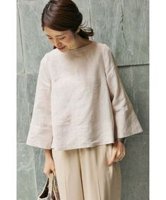Linen bell-shaped bodice as well as sleeves Linen Blouse, Blouse Dress, Couture, Shabby Look, Kurta Designs, Japan Fashion, Blouse Patterns, Linen Dresses, Tunic Tops