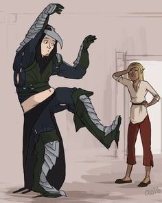 The Warden and Zevran
